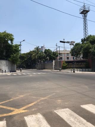 静まりかえったバンガロール市内1