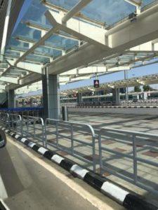 静まりかえったバンガロール空港3
